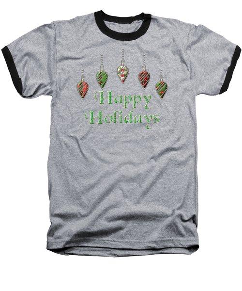 Happy Holidays Merry Christmas Baseball T-Shirt