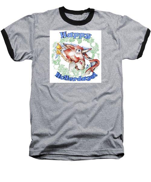 Real Fake News Happy Hollerdays Baseball T-Shirt