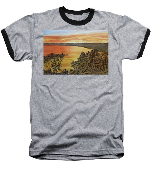 Baseball T-Shirt featuring the painting Happy Hour by Joel Deutsch