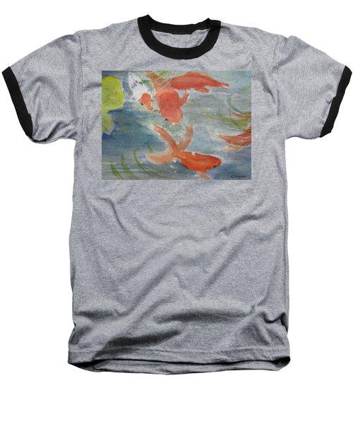 Happy Koi Baseball T-Shirt by Elvira Ingram