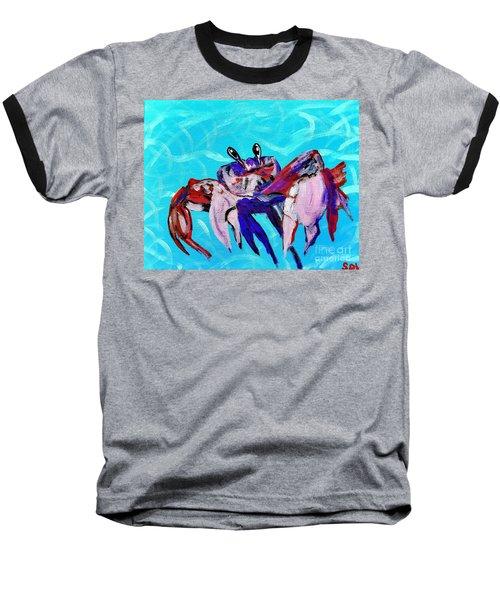 Happy Little Crab  Baseball T-Shirt by Scott D Van Osdol