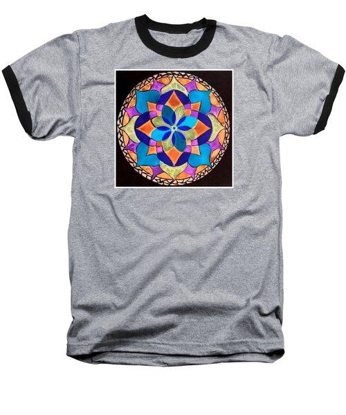 Happy Mandala  Baseball T-Shirt by Sandra Lira