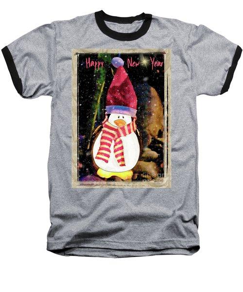 Happy New Year Snowduck Baseball T-Shirt