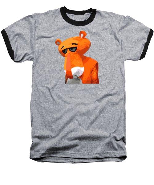 Happy Panther Baseball T-Shirt by Jirka Svetlik