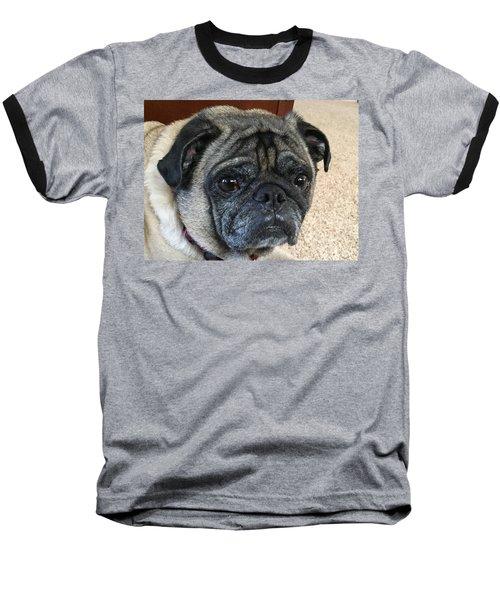 Happy Pug Baseball T-Shirt