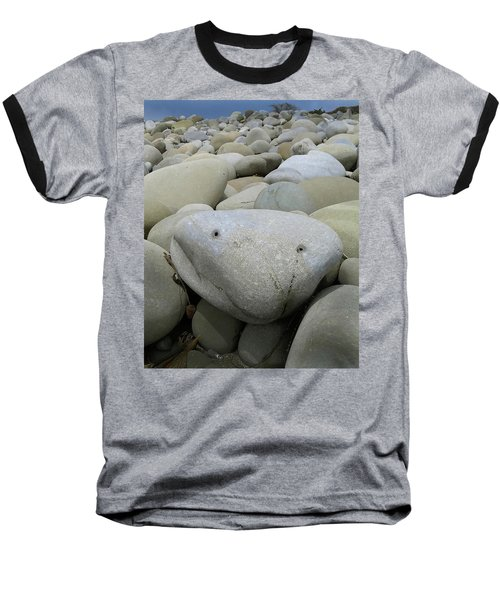 Happy Rock Baseball T-Shirt by Joe  Palermo