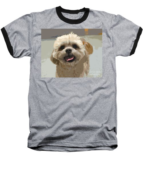 Happy Shih Tzu Baseball T-Shirt
