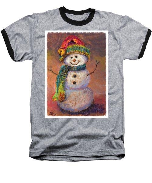Happy Snowman Baseball T-Shirt