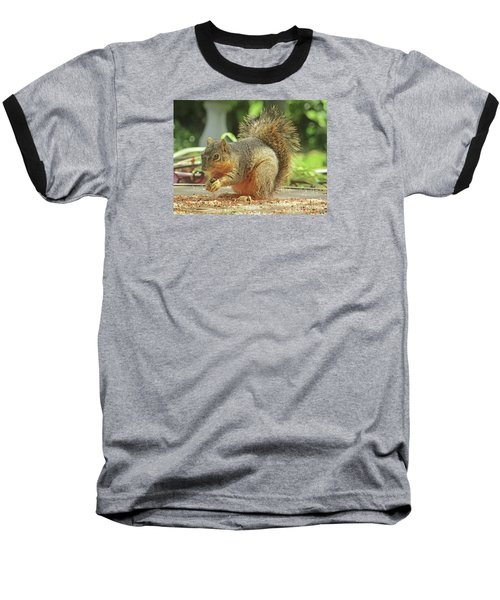 Happy Squirrel Baseball T-Shirt