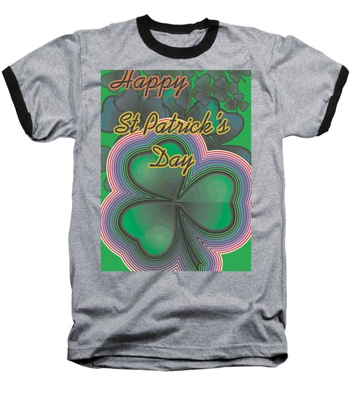 Baseball T-Shirt featuring the digital art Happy St. Patrick's Day by Sherril Porter