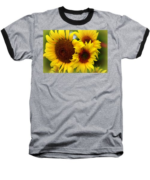 Baseball T-Shirt featuring the photograph Happy Sunflowers by Kay Novy
