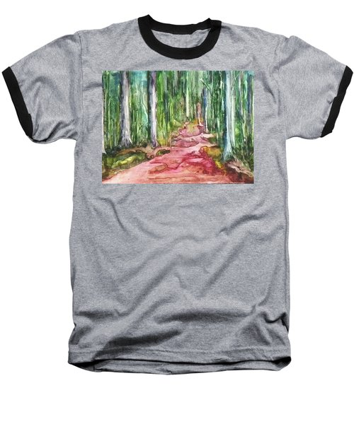 Baseball T-Shirt featuring the painting Happy Trail by Anna Ruzsan