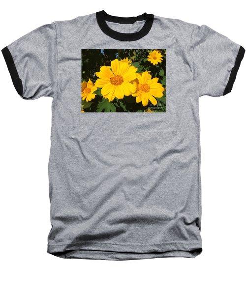 Happy Yellow Baseball T-Shirt by LeeAnn Kendall