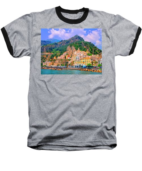 Harbor At Amalfi Baseball T-Shirt by Dominic Piperata
