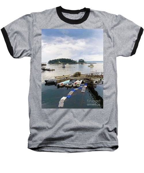 Harbor At Georgetown Five Islands, Georgetown, Maine #60550 Baseball T-Shirt