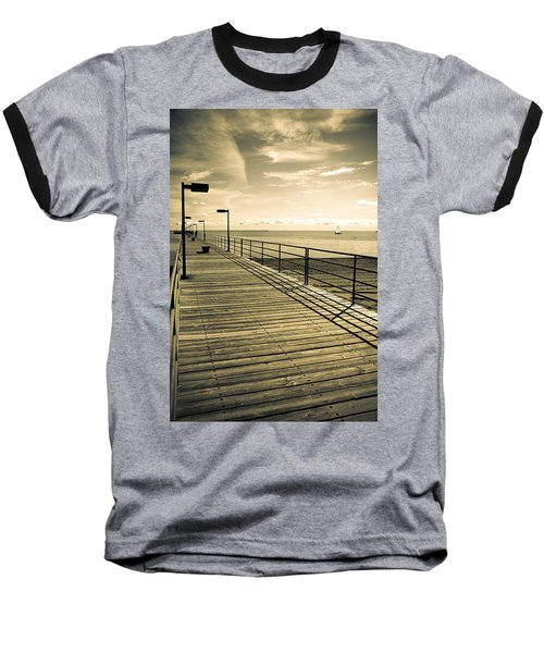 Harbor Beach Michigan Boardwalk Baseball T-Shirt