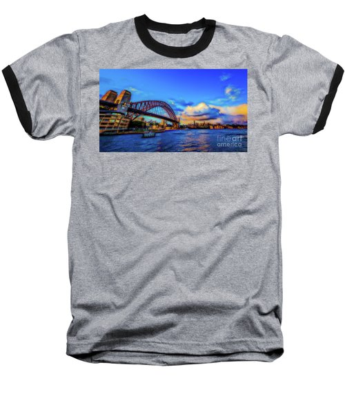Baseball T-Shirt featuring the photograph Harbor Bridge by Perry Webster