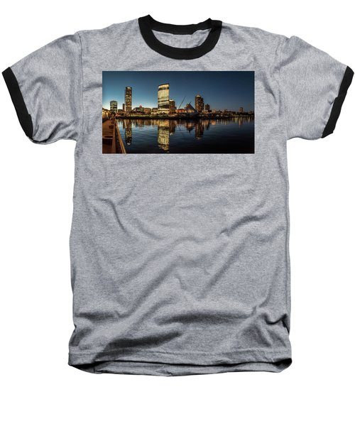 Harbor House View Baseball T-Shirt by Randy Scherkenbach