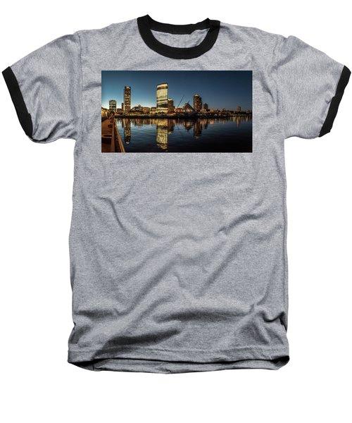 Baseball T-Shirt featuring the photograph Harbor House View by Randy Scherkenbach