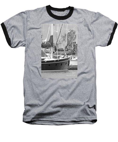 Harbor In Black And White Baseball T-Shirt