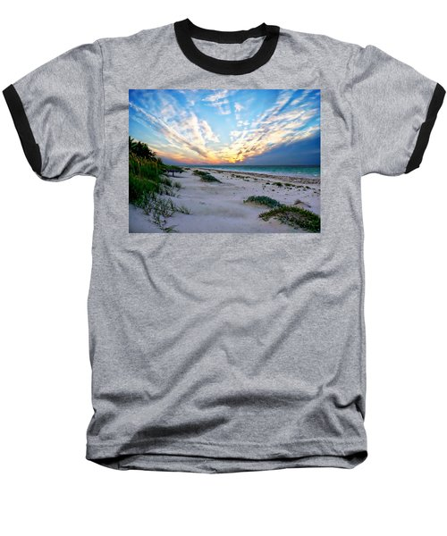 Harbor Island Sunset Baseball T-Shirt