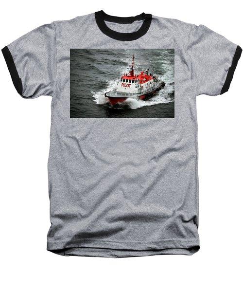 Baseball T-Shirt featuring the photograph Harbor Master Pilot by Allen Carroll