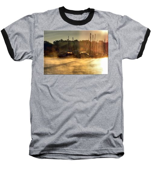 Baseball T-Shirt featuring the photograph Harbor Mist by Brian Wallace