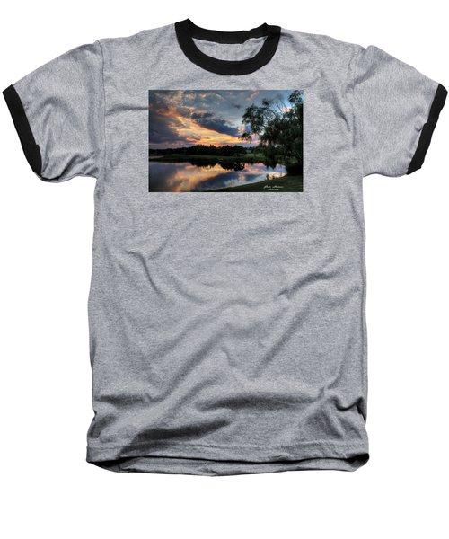 Harbor Reflections Baseball T-Shirt by John Loreaux