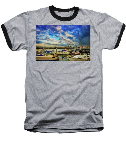 Harbor Scene Baseball T-Shirt