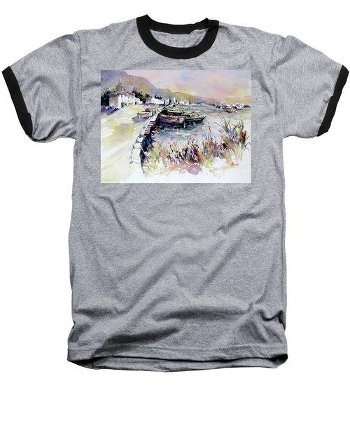 Harbor Shapes Baseball T-Shirt by Rae Andrews