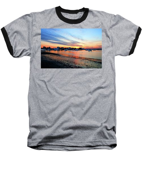 Harbor Sunset At Low Tide Baseball T-Shirt