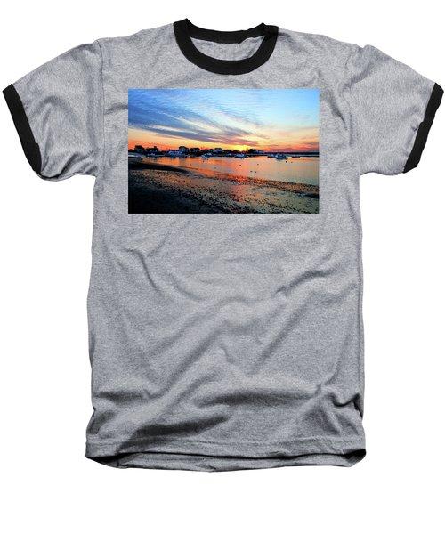 Harbor Sunset At Low Tide Baseball T-Shirt