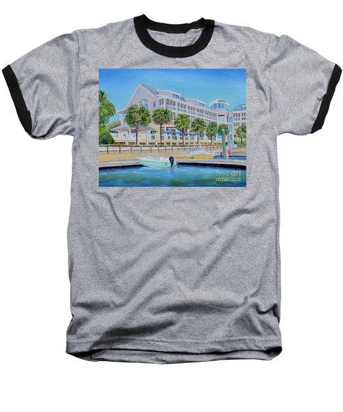 Harborside Marina Baseball T-Shirt by Shelia Kempf