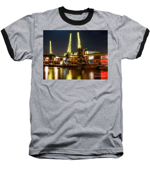 Harbour Cranes Baseball T-Shirt