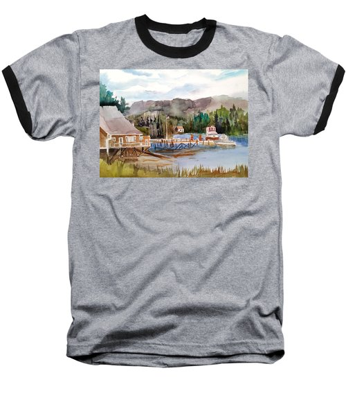 Harbour Scene Baseball T-Shirt by Larry Hamilton
