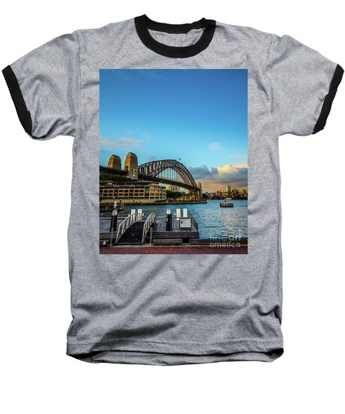 Baseball T-Shirt featuring the photograph Harbour Sky by Perry Webster