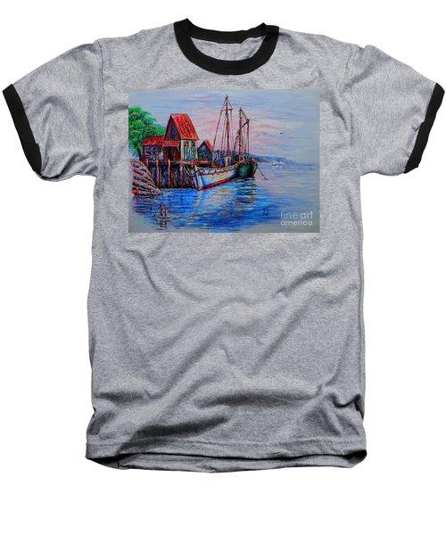 Harbour Baseball T-Shirt by Viktor Lazarev