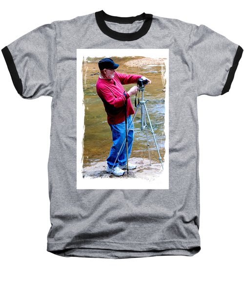 Hard At Work Baseball T-Shirt by Marilyn Carlyle Greiner