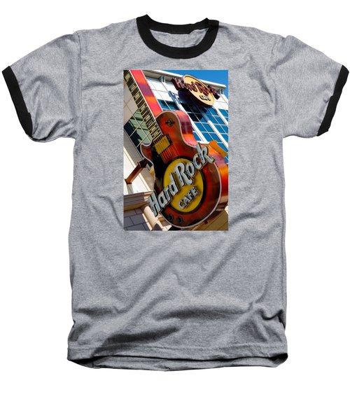 Baseball T-Shirt featuring the photograph Hard Rock Cafe Niagara by Bob Pardue
