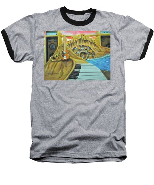 Baseball T-Shirt featuring the painting Hard Rock by Thomas J Herring