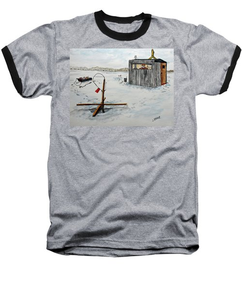 Hard Water Fishing Baseball T-Shirt