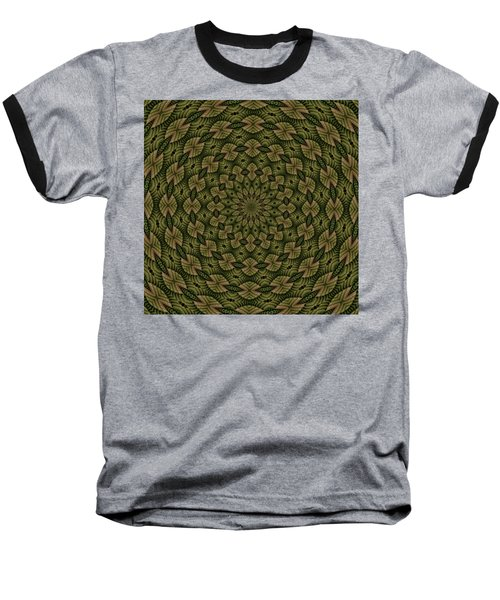 Hardwood Mandala Tile- Earthen Baseball T-Shirt
