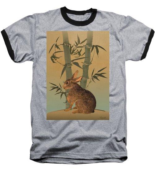 Hare Under Bamboo Tree Baseball T-Shirt