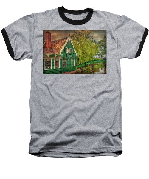 Baseball T-Shirt featuring the photograph Haremakerij At The Brook by Hanny Heim