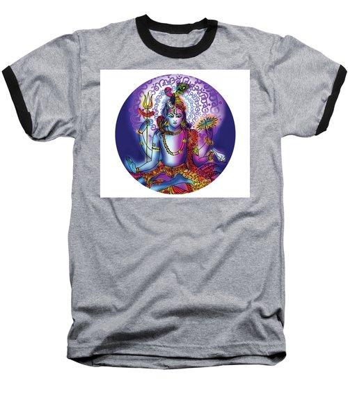 Baseball T-Shirt featuring the painting Hari Hara Krishna Vishnu by Guruji Aruneshvar Paris Art Curator Katrin Suter