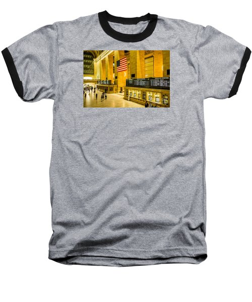 Grand Central Pride Baseball T-Shirt by M G Whittingham