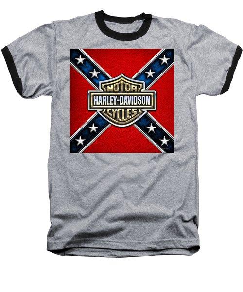 Harley-davidson - 3d Badge Baseball T-Shirt