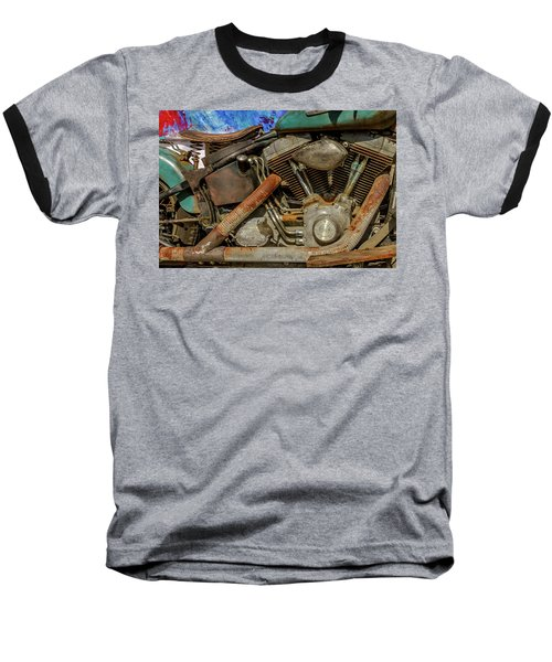 Baseball T-Shirt featuring the photograph Harley Davidson - An American Icon by Bill Gallagher