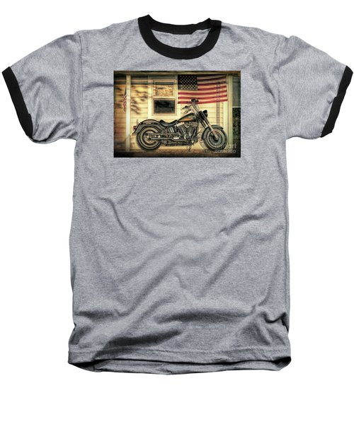 Harley Davidson Fat Boy Baseball T-Shirt