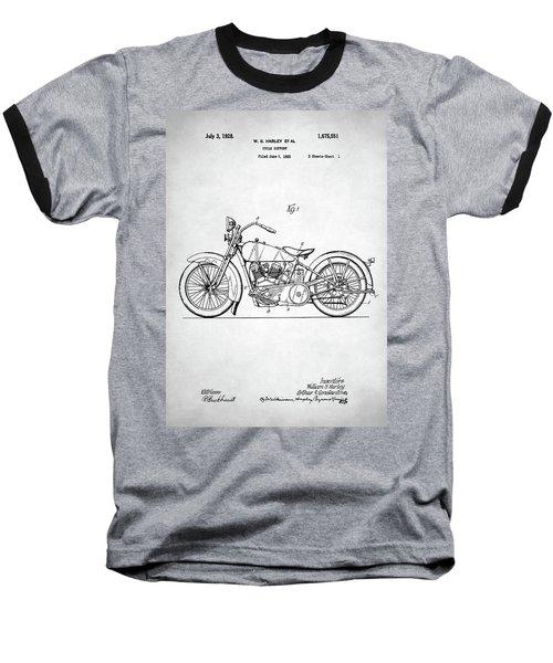 Baseball T-Shirt featuring the digital art Harley Davidson Patent by Taylan Apukovska